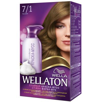 Краска-мусс для волос Wellaton стойкая 7/1 Кора дуба (4056800998074)
