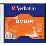 Диск DVD Verbatim 4.7Gb 16X SlimBox 20шт MatteSilv AZO Фото