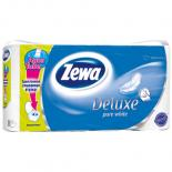 Туалетная бумага Zewa Deluxe 3-слойная Белая 8 шт Фото
