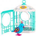 Интерактивная игрушка Moose Little Live Pets Птичка в клетке Радужный Рикки Фото 1