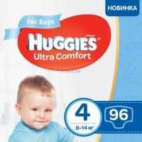 Подгузник Huggies Ultra Comfort 4 Box для мальчиков (7-16 кг) 96 шт Фото