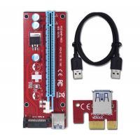 Райзер Dynamode PCI-E x1 to 16x 60cm USB 3.0 Cable 15Pin SATA Powe Фото
