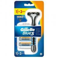 Бритва Gillette Blue3 с 3 сменными касетами Фото