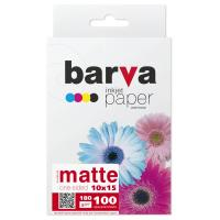 Папір BARVA 10x15,180 g/m2, matt, 100арк Фото