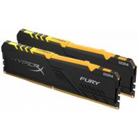 Модуль памяти для компьютера Kingston DDR4 16GB (2x8GB) 2666 MHz HyperX Fury Black RGB Фото