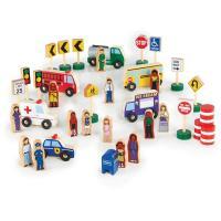 Игровой набор Guidecraft фигурок и машин Block Play к Дорожной системе, 36 Фото