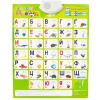 Интерактивная игрушка Знаток Звуковой плакат Веселая азбука Украинский язык Фото