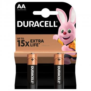 Батарейка Duracell AA MN1500 LR06 * 2 (5000394058163 / 81551267) - фото 2