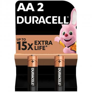 Батарейка Duracell AA MN1500 LR06 * 2 (5000394058163 / 81551267) - фото 1