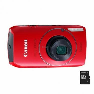 Цифровий фотоапарат IXUS 300 HS red Canon (4439B001/5100B023) - фото 1