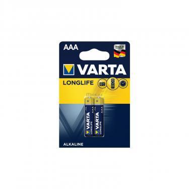 Батарейка Varta AAA Varta Longlife LR03 * 2 (04103101412) - фото 1