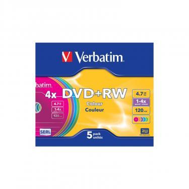 Диск DVD Verbatim 4.7Gb 4x SlimCase 5шт Color (43297) - фото 2