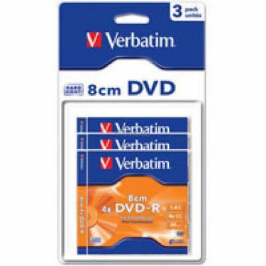 Диск DVD Verbatim 1.4Gb 4X MattSilver Hardcoated 3шт (43592) - фото 1