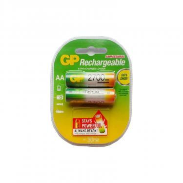 Аккумулятор AA R6 2700mAh * 2 GP (GP270AAHC-2PL2) - фото 1