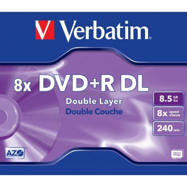 Диск DVD Verbatim 8.5Gb 8x JC 10 шт Inkjet Printable (43665) - фото 1