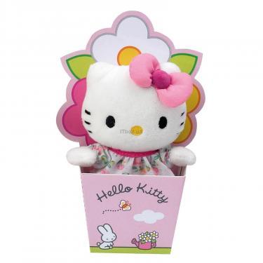 Мягкая игрушка Hello Kitty в цветочном горшке Фото 1