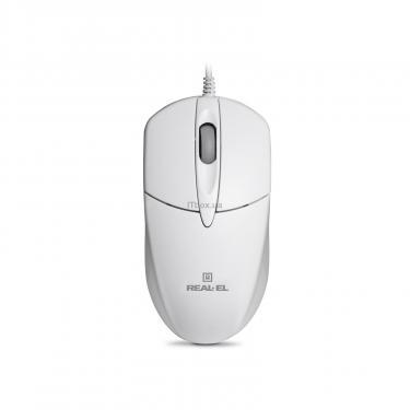 Мышка REAL-EL RM-211, USB, white Фото 1