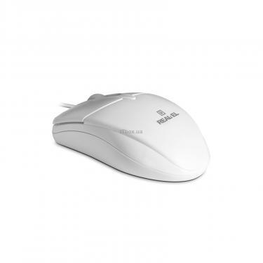 Мышка REAL-EL RM-211, USB, white Фото 2