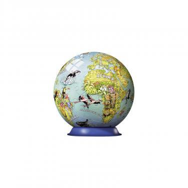 Пазл Ravensburger 3D Детский иллюстрированный глобус 108 элементов Фото 1