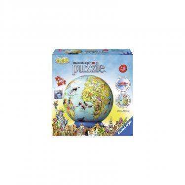 Пазл Ravensburger 3D Детский иллюстрированный глобус 108 элементов Фото