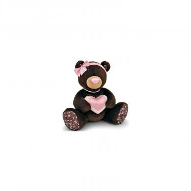 Мягкая игрушка Orange Мишка Milk с сердцем сидячий 25 см Фото