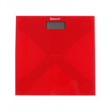 Весы напольные SATURN ST-PS0294 Red - фото 1