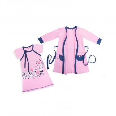 "Піжама Matilda і халат з ведмедиками ""Love"" (7445-92G-pink) - фото 1"
