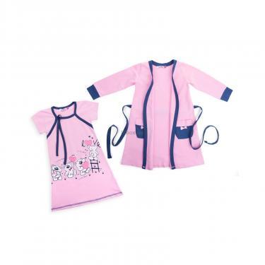 """Пижама Matilda и халат с мишками """"Love"""" (7445-164G-pink) - фото 1"""