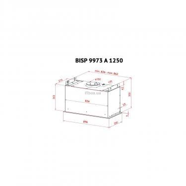 Вытяжка кухонная PERFELLI BISP 9973 A 1250 BL LED Strip - фото 9