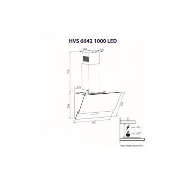 Вытяжка кухонная Minola HVS 6642 BL 1000 LED Фото 6