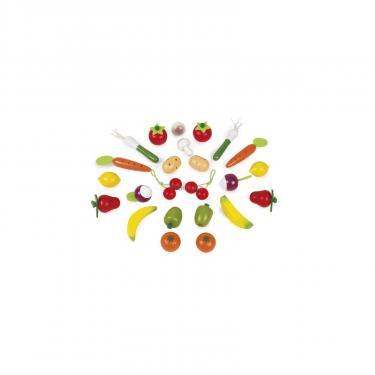 Игровой набор Janod Корзина с овощами и фруктами 24 эл Фото 1