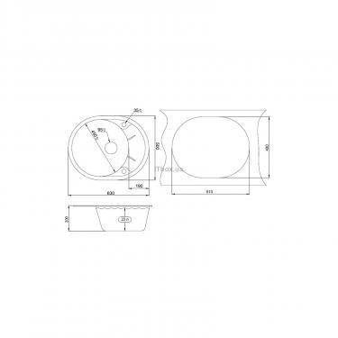 Мойка кухонная Minola MOG 1155-63 Пирит Фото 1
