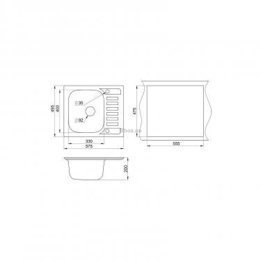 Мойка кухонная Minola MPG 1145-58 Антик Фото 1