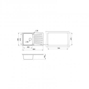 Мойка кухонная Minola MPG 1150-80 Антик Фото 1