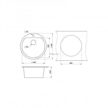 Мойка кухонная Minola MRG 71045-50 Антрацит (металлик) Фото 1