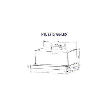 Вытяжка кухонная Minola HTL 6312 I 750 LED Фото 6
