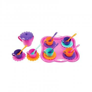 Игровой набор Тигрес Набор посуды Ромашка 22 эл с чайником и розовым по Фото