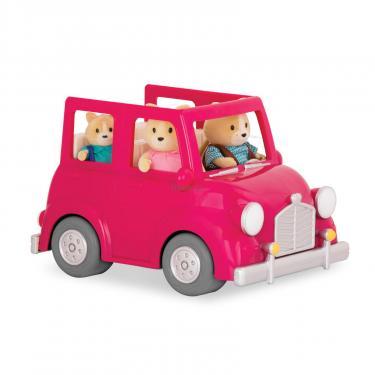 Игровой набор Li'l Woodzeez Розовая машина с чемоданом Фото 1