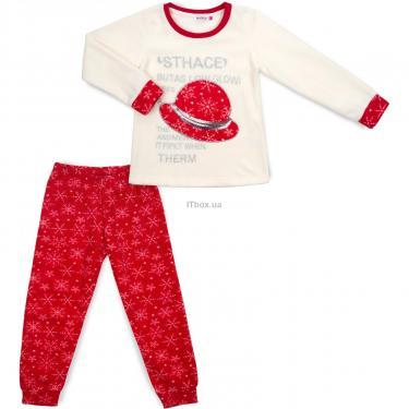 Пижама Matilda флисовая со шляпкой (9110-3-116G-red) - фото 1