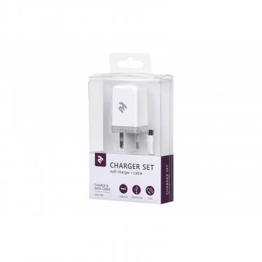 Зарядное устройство 2E USB Wall Charger USB:DC5V/2.1A +кабель MicroUSB 2.4A, white (2E-WC1USB2.1A-CM) - фото 3