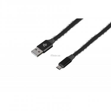 Дата кабель 2E USB 2.0 AM to Micro 5P 1.0m Fur black Фото 1