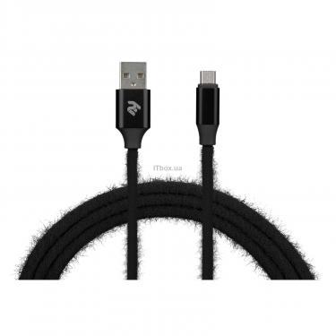 Дата кабель 2E USB 2.0 AM to Micro 5P 1.0m Fur black Фото 3