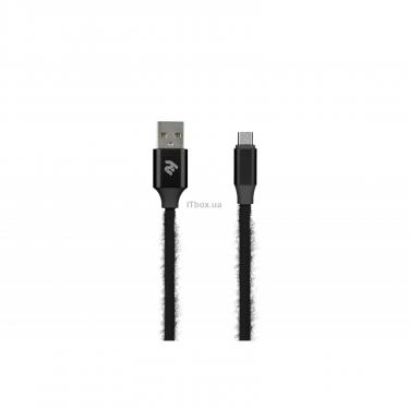 Дата кабель 2E USB 2.0 AM to Micro 5P 1.0m Fur black Фото