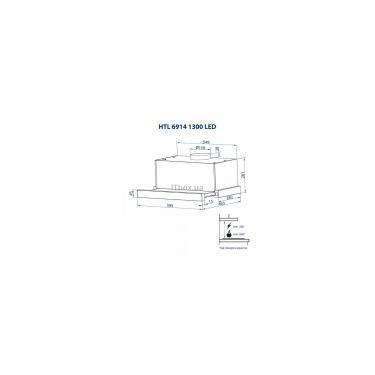 Вытяжка кухонная Minola HTL 6914 BL 1300 LED Фото 11
