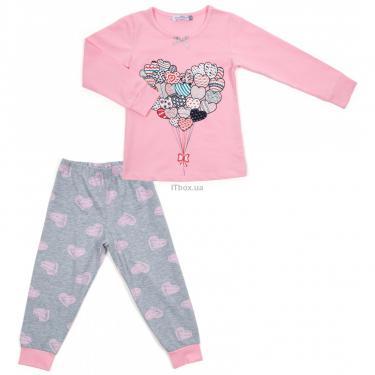 Пижама Matilda с сердечками (12101-2-128G-pink) - фото 1