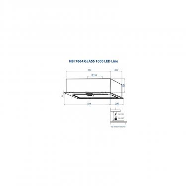Вытяжка кухонная Minola HBI 7664 WH GLASS 1000 LED Line Фото 9