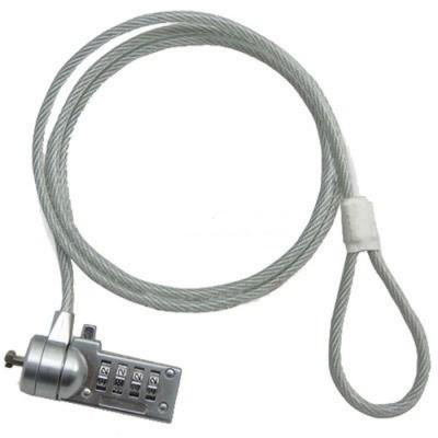 Тросик с замком для ноутбука F&K NLOCK02K (NLOCK01P)