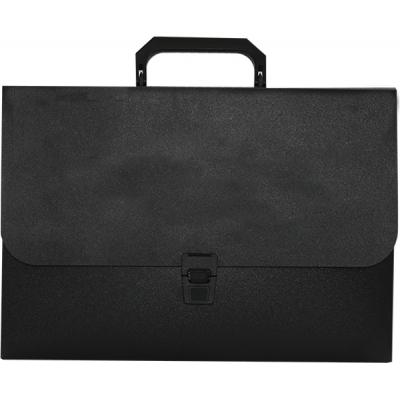 Папка - портфель BUROMAX 1 compartments, JOBMAX, black (BM.3735-01)