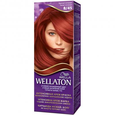Крем-краска для волос Wellaton стойкая 8/45 Красный Колорадо (4056800023172)