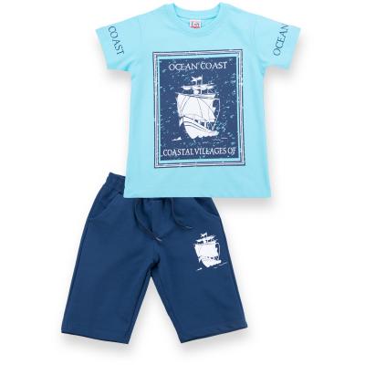 Набор детской одежды E&H с парусником (8299-134B-blue)